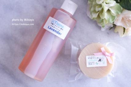 石鹸シャンプーとリンスの画像