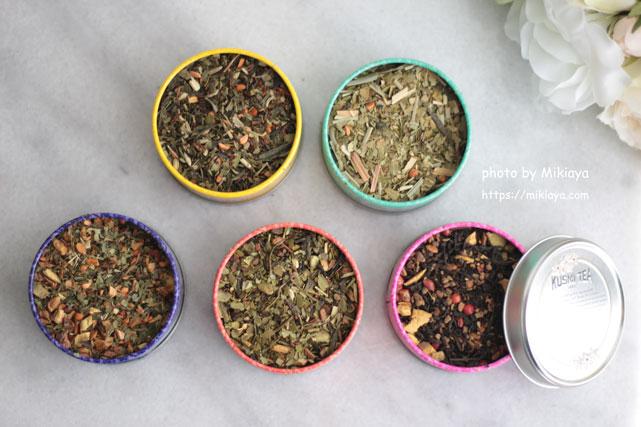 KUSMI TEAの5種類ウェルネスティーの画像